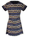 Waves Dolliero madcap england retro waves dress