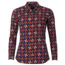 Madcap England Celia Retro Petals Penny Collar Shirt