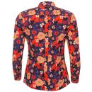 Celia MADCAP Womens Mod Penny Collar Floral Shirt