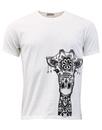 madcap giraffe print t shirt white mod