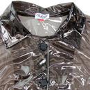 Jackie MADCAP ENGLAND 60s PVC Raincoat CLEAR BLACK