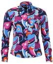 MADCAP ENGLAND ROCKET PAISLEY CLOUDS RETRO SHIRT