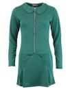 madcap england dots zip dress green mod