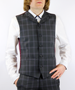 Tailored by Madcap England 60s Mod Check Waistcoat