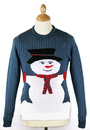 MR SNOWY SNOWMAN CHRISTMAS JUMPER RETRO 70S