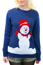 Mrs Snowy - Retro 70s Snowman Christmas Jumper