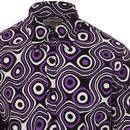 Trip Op Art MADCAP ENGLAND Mod Big Collar Shirt RL