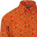 Trip Paisley Gold MADCAP ENGLAND 60s Mod Shirt
