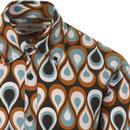 Trip Teardrops MADCAP ENGLAND Mod Op Art Shirt NF