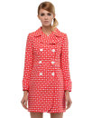 Marmalade Dresses 60s Mod Floral Coat Red