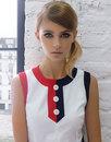 MARMALADE 1960s Mod Tennis Style Front Pleat Dress