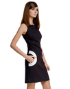 MARMALADE Retro 60s Mod Circle Pocket Dress Black