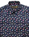 Alan MERC Mens 60s Mod Big Paisley Print Shirt (N)
