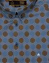 Caspian MERC Retro Mod Bubble Polka Dot Shirt NAVY