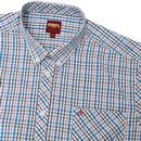 Ridley MERC Retro Mod Multi Check S/S Shirt BLUE