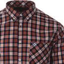 Cornhill MERC Mod Button Down Check Shirt (Sienna)