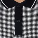 Corona MERC Retro 1960s Mod Dogtooth Polo Shirt