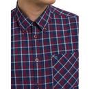 Fletcher MERC Mod S/S Button Down Check Shirt Bu