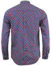 Grosmont MERC Retro Psychedelic Mini Floral Shirt