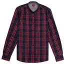 Harcourt MERC Mod Tartan Check Button Down Shirt