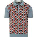 Jordan MERC Argyle Twist Mod Knit Polo (Dust Blue)
