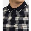 Lawrence MERC Retro Mod Check Knitted Polo DN