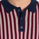 Northbrook MERC Retro 60s Mod Knitted Polo Shirt N