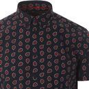 Pickford MERC 60s Mod Paisley Button Down SS Shirt