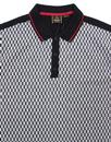 Pollack MERC Mens Retro Mod Geo Ska Check Polo Top