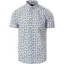 merc mens shelley irregular polka dot short sleeve shirt boy blue