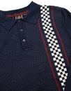 Tathwell MERC Mod Ska Checkerboard Stripe Polo Top