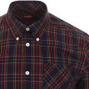 Mack MERC Mod S/S Button Down Check Shirt (Navy)