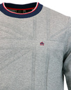 Vernon MERC Mens Retro 60s Tonal Union Jack Jumper