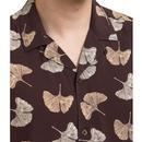 Watkins MERC Retro leaf print cuban Collar Shirt