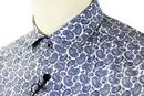 Spencer MERC Retro Psychedelic Mod Paisley Shirt N