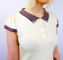 Abigale MERC Retro 60s Vintage Mod Cable Polo (VW)