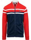 fila vintage naso chest stripe bomber track top