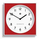 Newgate Clocks Retro Mod Burger and Chips 1950s 1960s Kitchen Diner Wall Clock in White and Red