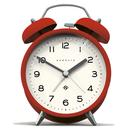 Newgate Clocks Charlie Bell Retro Alarm Clock red