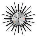 Newgate Clocks Stingray Retro Mod Atomic 1950s 60s Wall Clock in Black and Silver