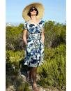 NOMADS Retro Fit and Flare St Ives Summer Dress