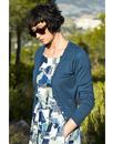 NOMADS Retro 50s Style Fitted Cardigan in Blue