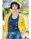 NOMADS Retro 50s Style Fitted Cardigan in Yellow