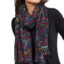 Nomads Fair Trade Woven Songbird Scarf Graphite