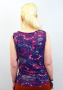 Floral Mosaic NOMADS Retro 60s Psychedelic Top