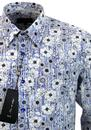 Omi Print 1 LIKE NO OTHER Retro Wild Flower Shirt