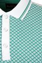 Hayle ALAN PAINE Retro Mod Lattice Dice Print Polo