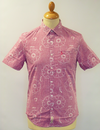 ORIGINAL PENGUIN FLORAL SHIRT HAWAIIAN SHIRT RETRO