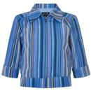 bright beautiful page striped jacket blue