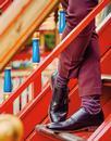 + Samana PANTHERELLA Striped Fine Knit Socks